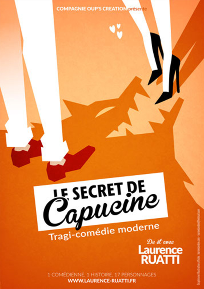 affiche du spectacle le secret de Capucine