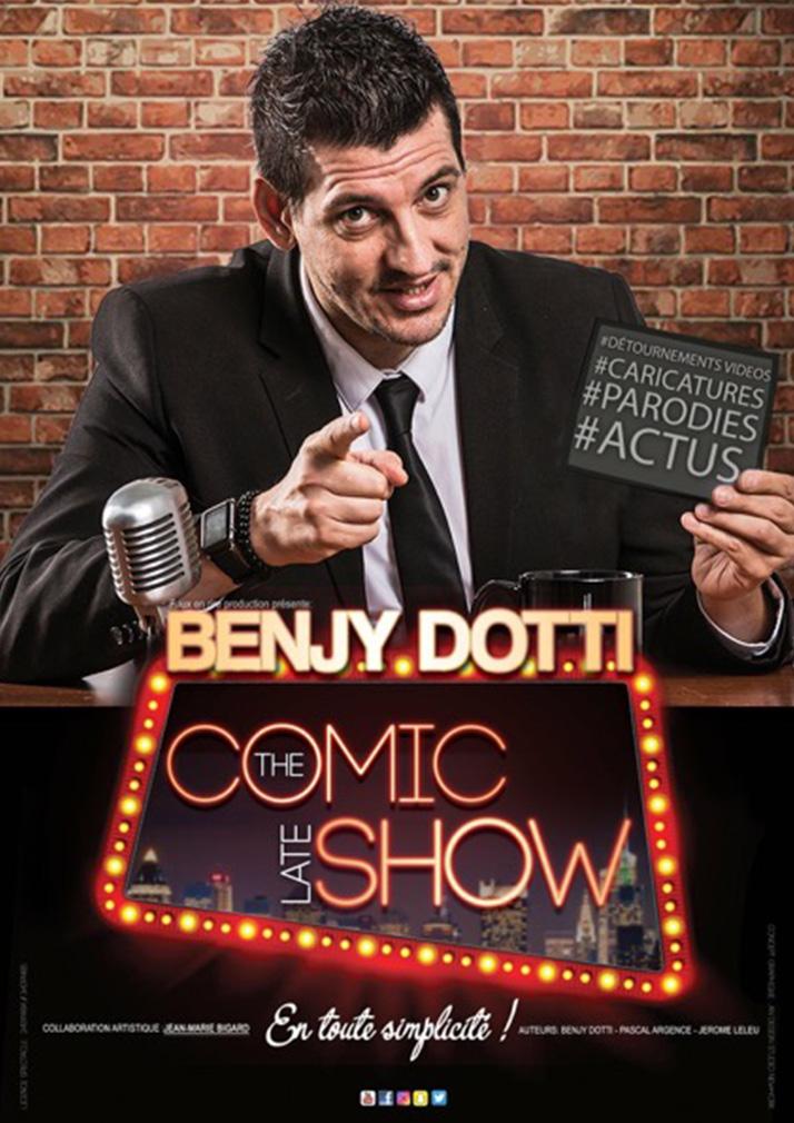 affiche du spectacle de Benjy Dotti