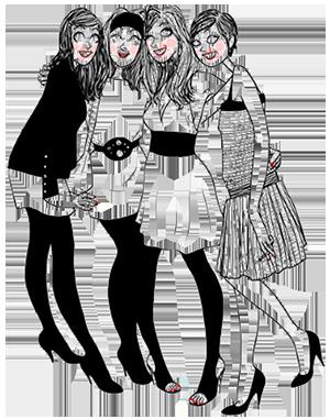 dessin de l'équipe du bar à pépettes